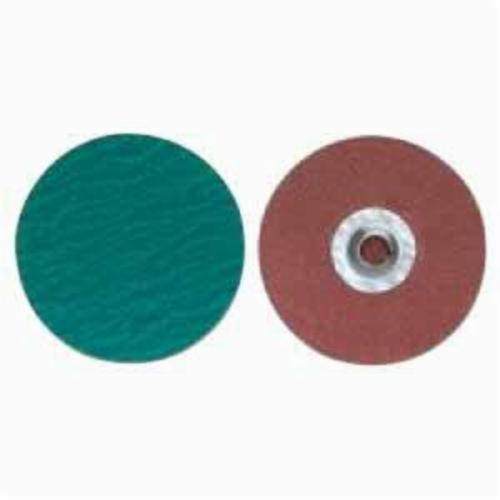 Merit® PowerLock® 08834167074 Zirc Plus R801 Coated Abrasive Quick-Change Disc, 3 in Dia, 50 Grit, Coarse Grade, Zirconia Alumina Abrasive, Type TS (Type II) Attachment