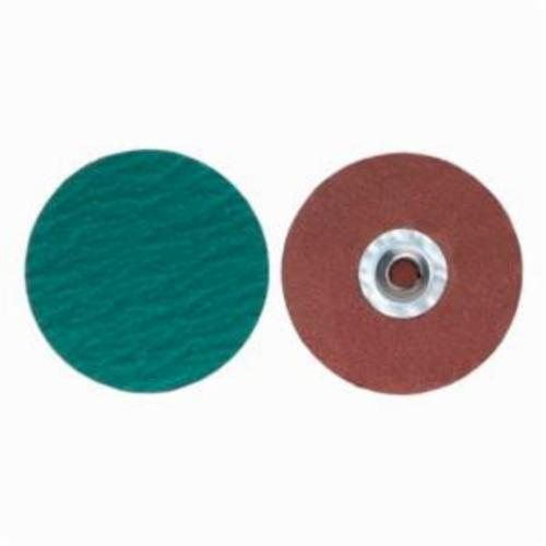 Merit® PowerLock® 08834167078 Zirc Plus R801 Coated Abrasive Quick-Change Disc, 3 in Dia, 120 Grit, Medium Grade, Zirconia Alumina Abrasive, Type TS (Type II) Attachment