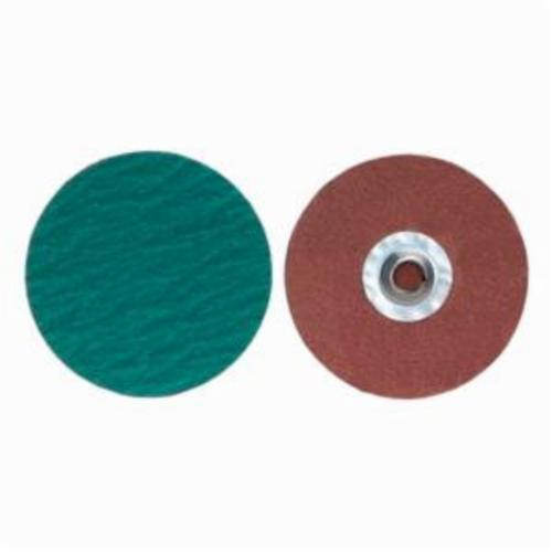 Merit® PowerLock® 08834167085 Zirc Plus R801 Coated Abrasive Quick-Change Disc, 4 in Dia, 120 Grit, Medium Grade, Zirconia Alumina Abrasive, Type TS (Type II) Attachment