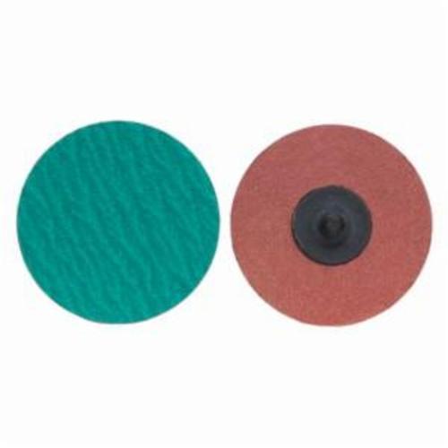 Norton® Merit® PowerLock® 08834167111 Zirc Plus R801 Coated Abrasive Quick-Change Disc, 2 in Dia, 80 Grit, Coarse Grade, Zirconia Alumina Abrasive, Type TR (Type III) Attachment