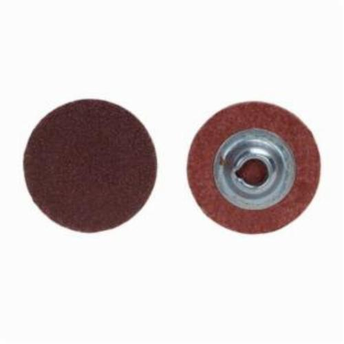 Merit® PowerLock® 08834167479 ALO Plus Coated Abrasive Quick-Change Disc, 1 in Dia, 50 Grit, Coarse Grade, Aluminum Oxide Abrasive, Type TS (Type II) Attachment