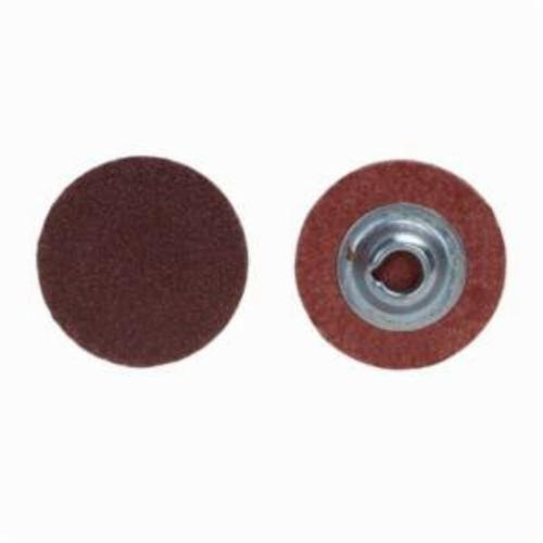 Merit® PowerLock® 08834167480 ALO Plus Coated Abrasive Quick-Change Disc, 1 in Dia, 60 Grit, Coarse Grade, Aluminum Oxide Abrasive, Type TS (Type II) Attachment