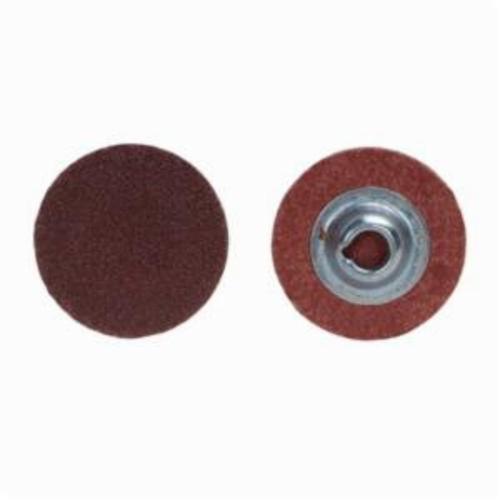 Merit® PowerLock® 08834167481 ALO Plus Coated Abrasive Quick-Change Disc, 1 in Dia, 80 Grit, Coarse Grade, Aluminum Oxide Abrasive, Type TS (Type II) Attachment