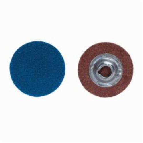 Merit® PowerLock® 08834167800 F826P Quick-Change Coated Abrasive Disc, 2 in Dia, 36 Grit, Extra Coarse Grade, Zirconia Alumina Abrasive, Type TS (Type II) Attachment