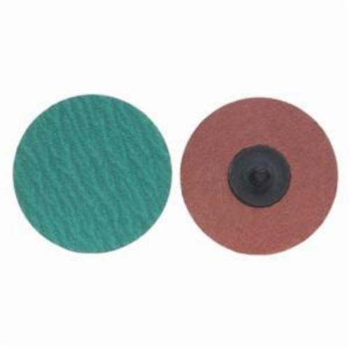 Norton® Merit® PowerLock® 08834167805 F826P Quick-Change Coated Abrasive Disc, 3 in Dia, 36 Grit, Extra Coarse Grade, Zirconia Alumina Abrasive, Type TS (Type II) Attachment
