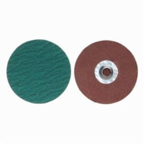 Merit® PowerLock® 08834167813 F826P Quick-Change Coated Abrasive Disc, 2 in Dia, 60 Grit, Coarse Grade, Zirconia Alumina Abrasive, Type TR (Type III) Attachment