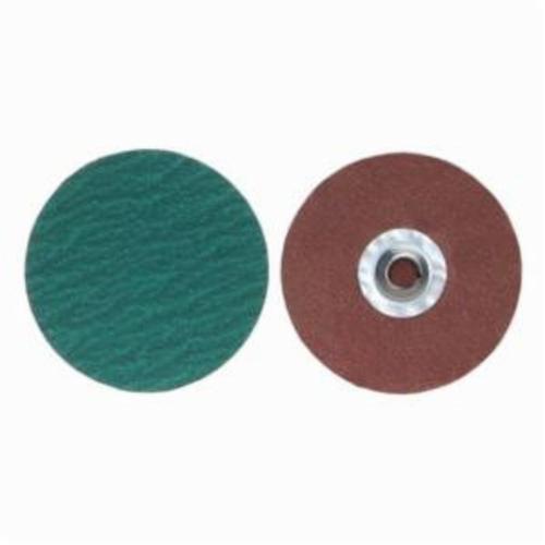Merit® PowerLock® 08834167819 F826P Quick-Change Coated Abrasive Disc, 3 in Dia, 60 Grit, Coarse Grade, Zirconia Alumina Abrasive, Type TR (Type III) Attachment