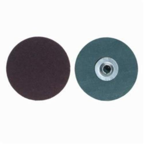 Merit® PowerLock® fx 08834168496 Flexible Coated Abrasive Quick-Change Disc, 2 in Dia, 40 Grit, Extra Coarse Grade, Aluminum Oxide Abrasive, Type TS (Type II) Attachment