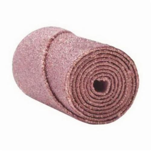 Merit® 08834180383 M-16 Half Glued Straight Coated Cartridge Roll, 5/8 in Dia x 1-1/2 in OAL, 3/16 in Pilot Hole, 80 Grit, Aluminum Oxide Abrasive