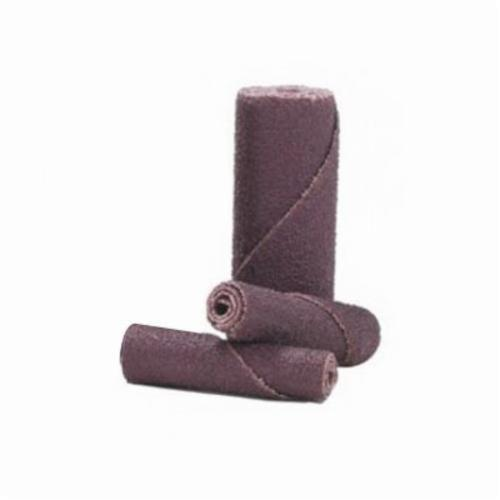 Norton® Merit® 08834180081 M-9 Coated Cartridge Roll, 1/4 in Dia x 1-1/2 in OAL, 1/8 in Pilot Hole, 80 Grit, Aluminum Oxide Abrasive
