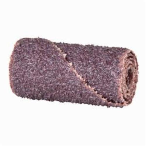 Merit® 08834180358 Straight Half Glued Coated Cartridge Roll, 3/4 in Dia x 1-1/2 in OAL, 1/4 in Pilot Hole, 80 Grit, Aluminum Oxide Abrasive