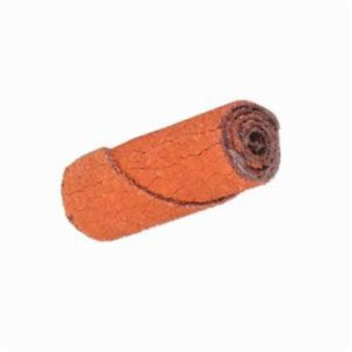 Merit® 08834180392 Straight Half Glued Coated Cartridge Roll, 5/8 in Dia x 1-1/2 in OAL, 1/8 in Pilot Hole, 40 Grit, Aluminum Oxide Abrasive