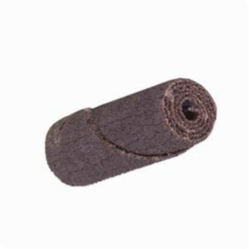 Merit® 08834180402 Straight Half Glued Coated Cartridge Roll, 5/8 in Dia x 2 in OAL, 3/16 in Pilot Hole, 80 Grit, Aluminum Oxide Abrasive