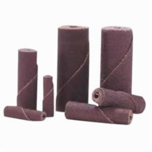 Merit® 08834180509 Coated Cartridge Roll, 3/4 in Dia x 2 in OAL, 1/4 in Pilot Hole, 100 Grit, Aluminum Oxide Abrasive