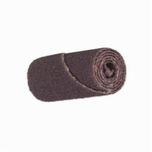 Merit® 08834180480 Straight Half Glued Coated Cartridge Roll, 3/4 in Dia x 1-1/2 in OAL, 3/16 in Pilot Hole, 120 Grit, Aluminum Oxide Abrasive