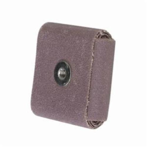Norton® Merit® 08834182057 Coated Square Pad, 3 in L x 3 in W x 1/2 in THK, 1/4-20 Eyelet Thread, 60 Grit