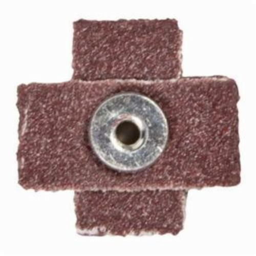 Norton® Merit® 08834182140 Coated Cross Pad, 3 in L x 3 in W x 1 in THK, 1/4-20 Eyelet Thread, 80 Grit