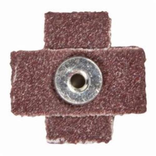 Norton® Merit® 08834182148 Coated Cross Pad, 1-1/2 in L x 1-1/2 in W x 1/2 in THK, #8-32 Eyelet Thread, 120 Grit