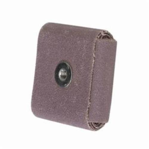 Norton® Merit® 08834182152 Coated Square Pad, 3 in L x 3 in W x 1/2 in THK, 1/4-20 Eyelet Thread, 50 Grit