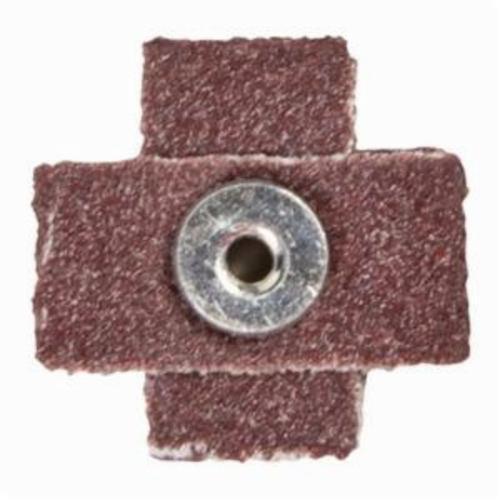 Norton® Merit® 08834182196 Coated Cross Pad, 1-1/2 in L x 1-1/2 in W x 1/2 in THK, #8-32 Eyelet Thread, 100 Grit