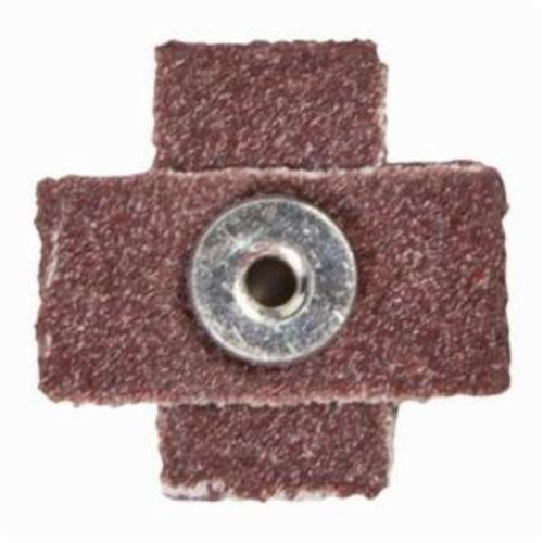 Merit® 08834184142 Coated Cross Pad, 4 in L x 4 in W x 1 in THK, 1/4-20 Eyelet Thread, 60 Grit