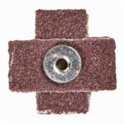 Norton® Merit® 08834184195 Coated Cross Pad, 1 in L x 1 in W x 3/8 in THK, #8-32 Eyelet Thread, 100 Grit