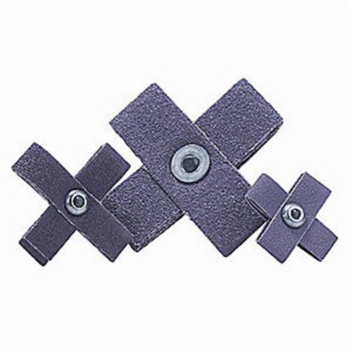 Merit® 08834184377 Coated Cross Pad, 4 in L x 4 in W x 1 in THK, 120 Grit