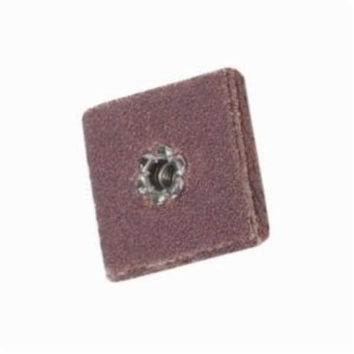 Merit® 08834184826 Coated Square Pad, 1 in L x 1 in W x 6-Ply THK, #8-32 Eyelet Thread, 80 Grit