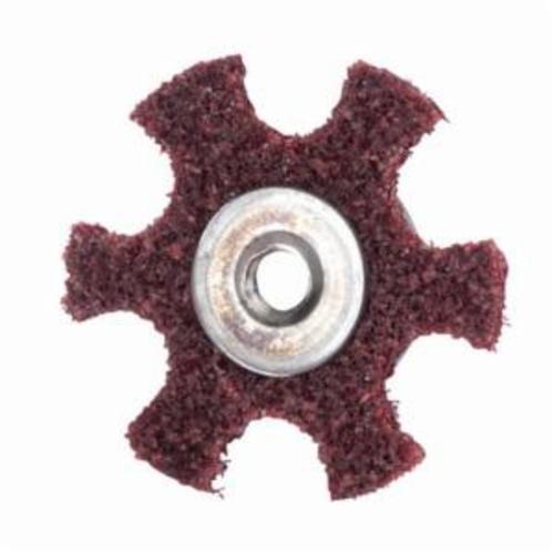 Merit® 08834185924 Surface Preparation Star, 1-1/2 in Dia, 1/4-20 Eyelet, Medium Grade, Aluminum Oxide Abrasive