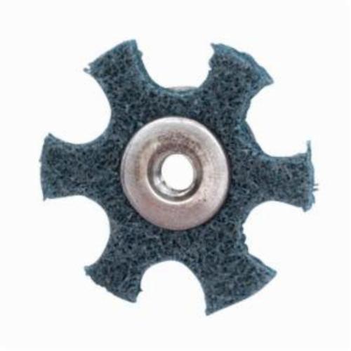 Merit® 08834185925 Surface Preparation Star, 1-1/2 in Dia, 1/4-20 Eyelet, Very Fine Grade, Aluminum Oxide Abrasive
