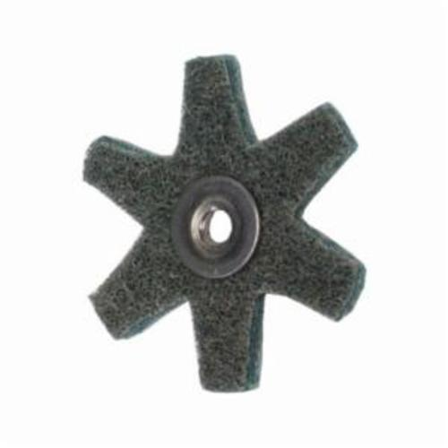 Merit® 08834185928 Surface Preparation Star, 2 in Dia, 1/4-20 Eyelet, Very Fine Grade, Aluminum Oxide Abrasive