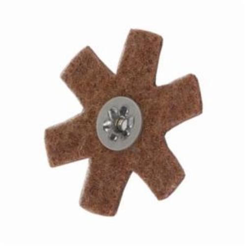 Merit® 08834185929 Surface Preparation Star, 3 in Dia, 1/4-20 Eyelet, Coarse Grade, Aluminum Oxide Abrasive