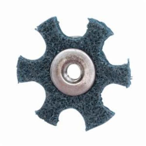 Merit® 08834185931 Surface Preparation Star, 3 in Dia, 1/4-20 Eyelet, Very Fine Grade, Aluminum Oxide Abrasive