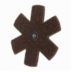 Merit® 08834185932 Surface Preparation Star, 4 in Dia, 1/4-20 Eyelet, Coarse Grade, Aluminum Oxide Abrasive