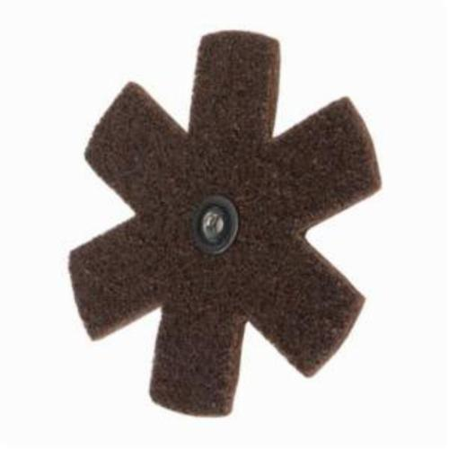 Norton® Merit® 08834185932 Surface Preparation Star, 4 in Dia, 1/4-20 Eyelet, Coarse Grade, Aluminum Oxide Abrasive
