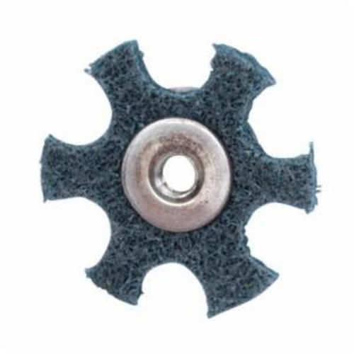 Merit® 08834185934 Surface Preparation Star, 4 in Dia, 1/4-20 Eyelet, Very Fine Grade, Aluminum Oxide Abrasive