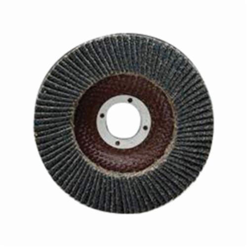 Merit® PowerFlex® 66254407161 Standard Density Coated Abrasive Flap Disc, 6 in Dia, 120 Grit, Fine Grade, Zirconia Alumina Abrasive, Type 29/Conical Disc