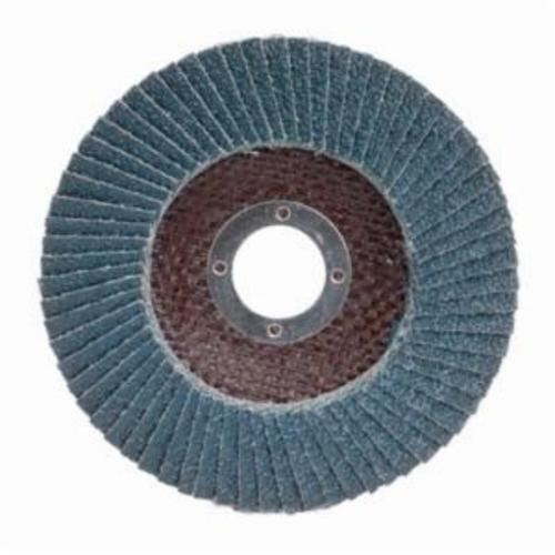 Merit® PowerFlex® 08834190101 Arbor Thread Contoured Standard Density Coated Abrasive Flap Disc, 4-1/2 in Dia, P24 Grit, Extra Coarse Grade, Zirconia Alumina Abrasive, Type 29/Conical Disc