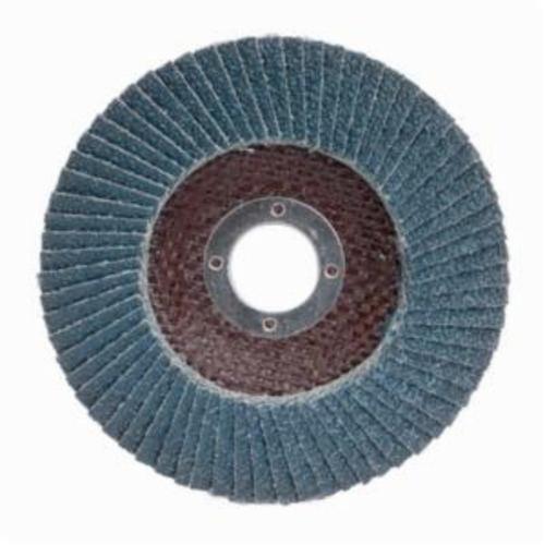 Merit® PowerFlex® 08834190104 Arbor Thread Contoured Standard Density Coated Abrasive Flap Disc, 4-1/2 in Dia, P60 Grit, Coarse Grade, Zirconia Alumina Abrasive, Type 29/Conical Disc