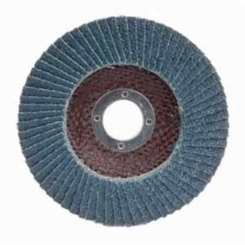 Merit® PowerFlex® 08834190107 Contoured Standard Density Coated Abrasive Flap Disc, 4-1/2 in Dia, 120 Grit, Fine Grade, Zirconia Alumina Abrasive, Type 29/Conical Disc