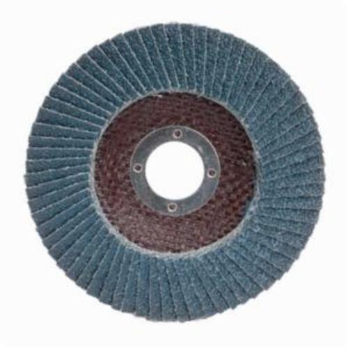 Merit® PowerFlex® 08834190120 Arbor Thread Contoured Standard Density Coated Abrasive Flap Disc, 7 in Dia, P36 Grit, Extra Coarse Grade, Zirconia Alumina Abrasive, Type 29/Conical Disc
