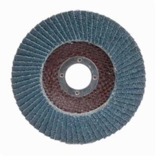 Merit® PowerFlex® 08834190123 Arbor Thread Contoured Standard Density Coated Abrasive Flap Disc, 7 in Dia, P80 Grit, Coarse Grade, Zirconia Alumina Abrasive, Type 29/Conical Disc