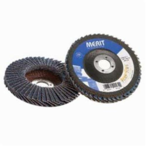 Merit® PowerFlex® 08834195171 High Density Coated Abrasive Flap Disc, 7 in Dia, 7/8 in Center Hole, 40 Grit, Coarse Grade, Aluminum Oxide Abrasive, Type 29/Conical Disc