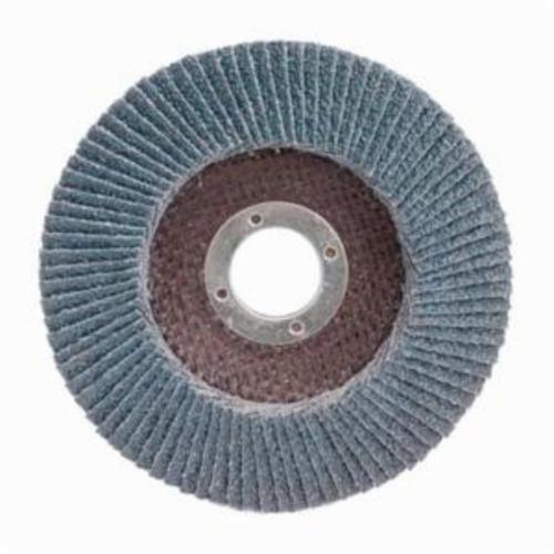 Merit® PowerFlex® 08834190175 Center Mount High Density Coated Abrasive Flap Disc, 4-1/2 in Dia, 7/8 in Center Hole, P60 Grit, Coarse Grade, Zirconia Alumina Abrasive, Type 29/Conical Disc
