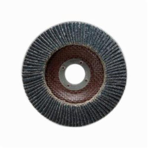 Merit® PowerFlex® 66254460462 Standard Density Coated Abrasive Flap Disc, 7 in Dia, 7/8 in Center Hole, 120 Grit, Fine Grade, Silicon Carbide Abrasive, Type 29/Conical Disc