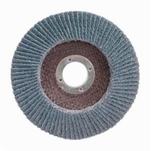 Merit® PowerFlex® 08834190878 High Density Coated Abrasive Flap Disc, 7 in Dia, 7/8 in Center Hole, 36 Grit, Extra Coarse Grade, Zirconia Alumina Abrasive, Type 29/Conical Disc