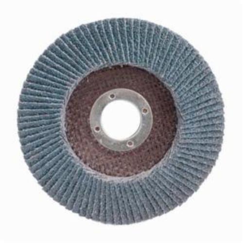 Merit® PowerFlex® 08834190924 Center Mount High Density Coated Abrasive Flap Disc, 4-1/2 in Dia, 7/8 in Center Hole, P80 Grit, Coarse Grade, Zirconia Alumina Abrasive, Type 29/Conical Disc