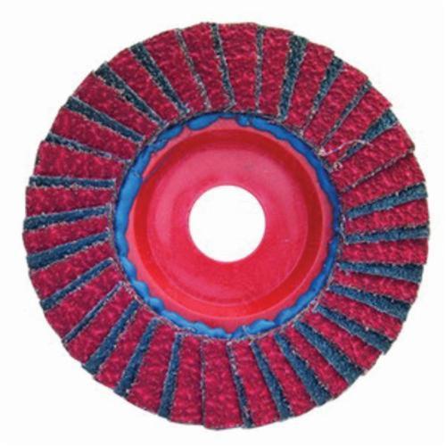 Merit® PowerFlex® 08834193634 Contoured Standard Density Coated Abrasive Flap Disc, 4-1/2 in Dia, 7/8 in Center Hole, 60 Grit, Coarse Grade, Zirconia Alumina Abrasive, Type 29/Conical Disc
