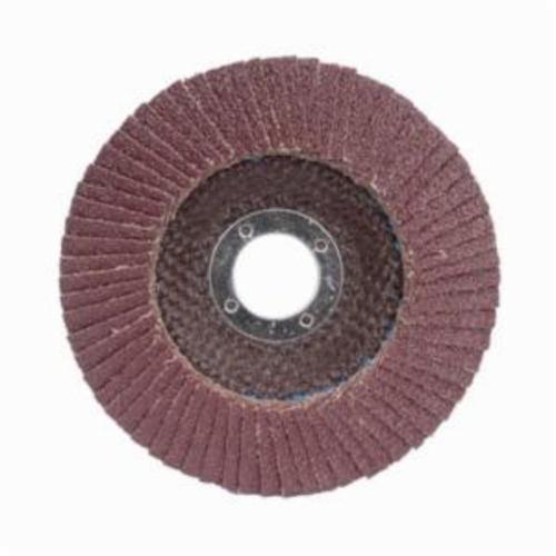 Merit® PowerFlex® 08834193663 Contoured Standard Density Coated Abrasive Flap Disc, 4-1/2 in Dia, 7/8 in Center Hole, 40 Grit, Coarse Grade, Aluminum Oxide Abrasive, Type 29/Conical Disc