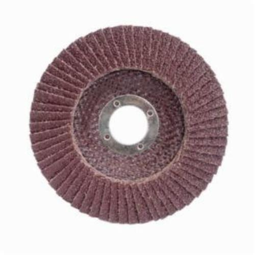 Merit® PowerFlex® 08834193665 Contoured Standard Density Coated Abrasive Flap Disc, 4-1/2 in Dia, 7/8 in Center Hole, 80 Grit, Medium Grade, Aluminum Oxide Abrasive, Type 29/Conical Disc